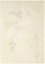 Drawing from a set of 16 architectural details in N. India made between 1786 and 1792 1810